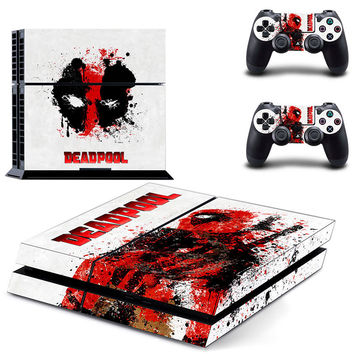Marvel Deadpool Skin for PS4 Console and 2 Controllers