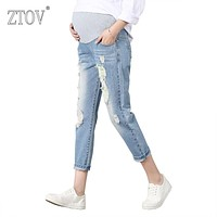 ZTOV Maternity Pants For Pregnant Women Pregnancy Denim Jeans