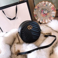 Gucci Gg Marmont Mini Round Shoulder Bag #1361