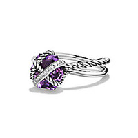 David Yurman - Cable Wrap Ring with Amethyst and Diamonds - Saks Fifth Avenue Mobile