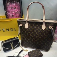 DCCK Year-End Promotion 3 Pcs Of Bags Combination (LV Bag ,YSL Mid Bag ,LV Wallet)