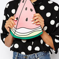 Watermelon Zipper Closure Clutch Bag