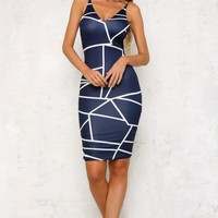 Whisked Away Dress Navy