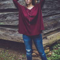 Daydreaming Top in Burgundy