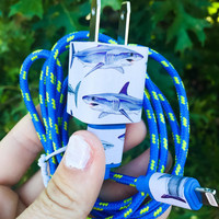 Blue Shark iphone 5 6 7 charger