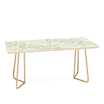 Morgan Kendall mint green leaves Coffee Table