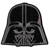 """Licensed cool NEW Star Wars Darth Vader Helmet Embroidered  IRON ON Patch Badge 3"""" x 2 3/4"""""""