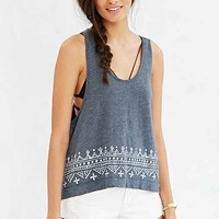 Truly Madly Deeply Lark Boheme High/Low Tank- Charcoal
