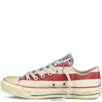 Converse - Chuck Taylor Distressed Flag - Low - White/Navy/Red
