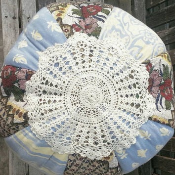 Ottoman- Shabby Chic Decor- Decorative Cushion- Bohemian Furniture- Pillow- Cushion- Living Room Decor- Home Decor- Baby Nursery- Dorm Decor
