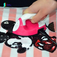 Mini Electric Iron Small Flat Iron Stick Name Spell DIY Doug Hand Tools For Drilling Hot Pink With White Color  Black Line S025M