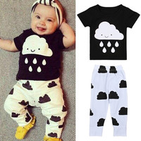 Children Pants Short Sleeve Bottom & Top [9283981060]