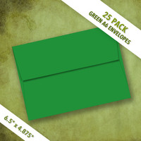 A6 Size GREEN Envelopes   Pack of 25