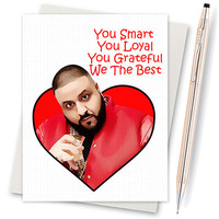 Dj Khaled Card - We The Best - Funny Anniversary - For Her - Husband Gift - Card For Best Friend - For Boyfriend - Dad  - I Love You Cards