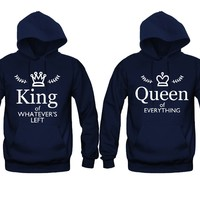 Queen of Everything - King of Whatever's Left Unisex Couple Matching Hoodies