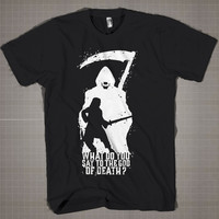 Game Of Thrones God Of Death  Mens and Women T-Shirt Available Color Black And White