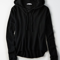 Don't Ask Why Waffle Hoodie, Black