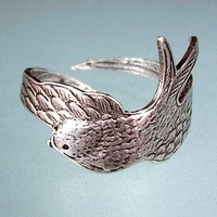 Sparrow ring bird wings wrap around your finger by RingRingRing