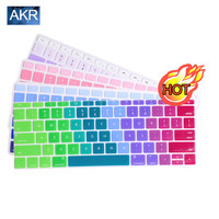 Keyboard Cover case for MacBook Air 11 13 inch Pro 13 15 Retina US  alphabet Gradient Colors Stickers Protector