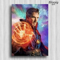 doctor strange poster marvel decor super hero print