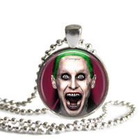 The Joker Silver Plated Picture Pendant Necklace Suicide Squad