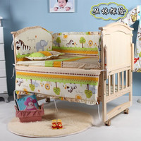 Promotion! 10PCS Bear baby bedding bumper set newborn bedding cot nursery cot bedding kit bed (bumper+matress+pillow+duvet)