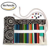 Artify 72 Colored Pencil Roll Up Canvas Wrap Pouch Holder Case| Anti-Pilling Design and Thick Canvas| Environmental-Friendly Material (Pencils are not Included)
