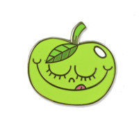 Green Apple Enamel Pin