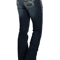 Ariat REAL Denim Women's Entwined Boot Cut Mid-Rise Medium Wash Riding Jeans