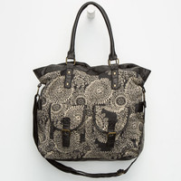 T-Shirts & Jeans Medallion Print Tote Black Combo One Size For Women 25984214901