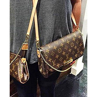 Louis Vuitton LV canvas chain bag flap shoulder bag