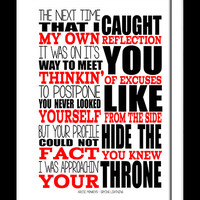 A3 Arctic Monkeys Crying Lightning Print Typography song music lyrics for framing ( Print Only )