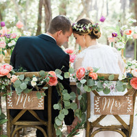 Mr and Mrs Chair Signs - Wooden Wedding Signs - Wood