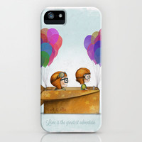 UP Pixar— Love is the greatest adventure  iPhone & iPod Case by Ciara Panacchia