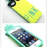Nine States High Qaulity Cute Pineapple with Funny Sunglasses Protective Shell Soft Silicone Back Case Cover Compatible for Apple Iphone Apple 5 5s 5g Yellow (Colour Varies)