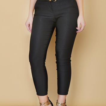 RESTOCK Get Down To Business Pants BLACK