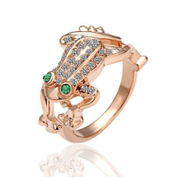 Rose Gold Plated Leaping Frog Ring