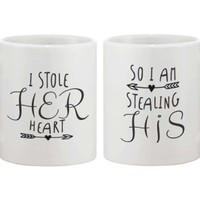 Stealing Heart Coffee Matching Couple Mugs - 365 Printing Inc