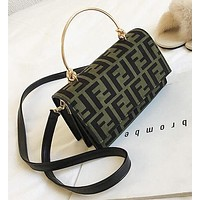 FENDI Fashion Women Shopping Handbag Crossbody Satchel Shoulder Bag Green
