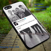 5 Seconds of Summer Michael Clifford Quote iPhone 6s 6 6s+ 5c 5s Cases Samsung Galaxy s5 s6 Edge+ NOTE 5 4 3 #music #5sos dt