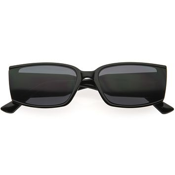 Sporty Chic Neutral Colored Lens Rectangle Sunglasses D275