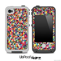 Abstract Color Tiled Skin for the iPhone 5 or 4/4s LifeProof Case