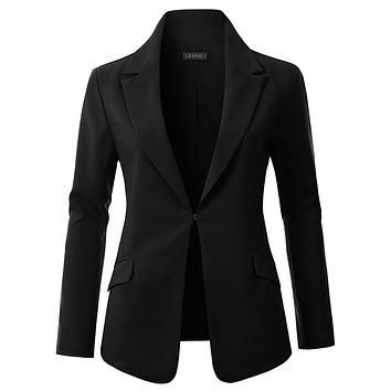 Classic Ultra Lightweight Long Sleeve Boyfriend Blazer Jacket