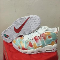 Nike Air More Uptempo Scottie Pippen Basketball Shoes - White Colorful