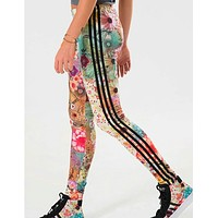 Adidas Originals Fashion Print Flowers Leggings Sweatpants