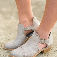 Payton Buckle Bootie In Gray