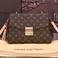 LV Bag Louis Vuitton Tassel Bag Shoulder Bag Crossbory Bag Coffee Print