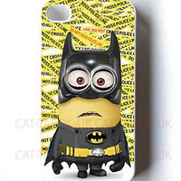 BATMAN SUPERHERO MINION DESPICABLE ME 2 iPhone 4,4s,5,5s,5C CASE COVER /MINIONS