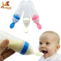 Prof. Monkids 1 PC Baby Infant Newborn Toddler Silica Gel Feeding Bottle Spoon Food Supplement Rice Cereal Bottle Feeding Bottle