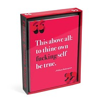 F*cking Quote Notecard Set | 12 Cards and Envelopes in 6 Designs